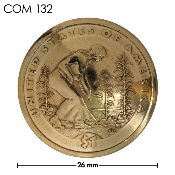 コンチョ/アメリカ/1ドル/真鍮色/26mm [ポイント40倍]