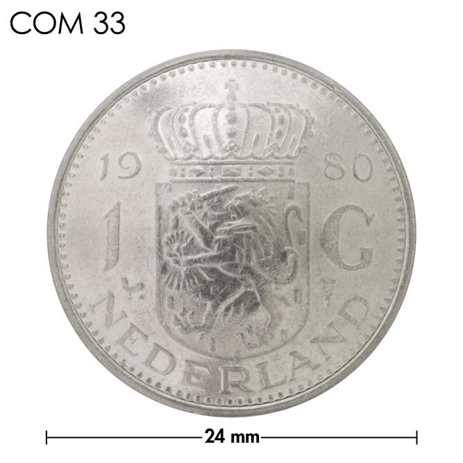 コンチョ/オランダ/1ギルダー/紋章/銀色/24mm [ポイント40倍]