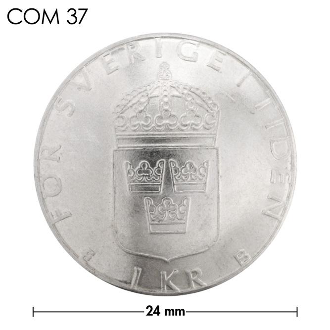コンチョ/スウェーデン/1クローネ/3紋章/銀色/24mm [ポイント40倍]