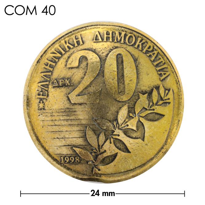 コンチョ/ギリシャ/20ドラクア/植物/真鍮色/24mm [30%OFF]