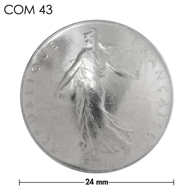 コンチョ/フランス/1フラン/人物/銀色/24mm [10%OFF]