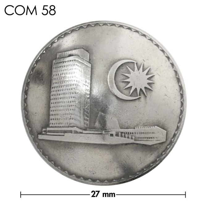 コンチョ/マレーシア/50セン/建物/銀色/27mm [30%OFF]