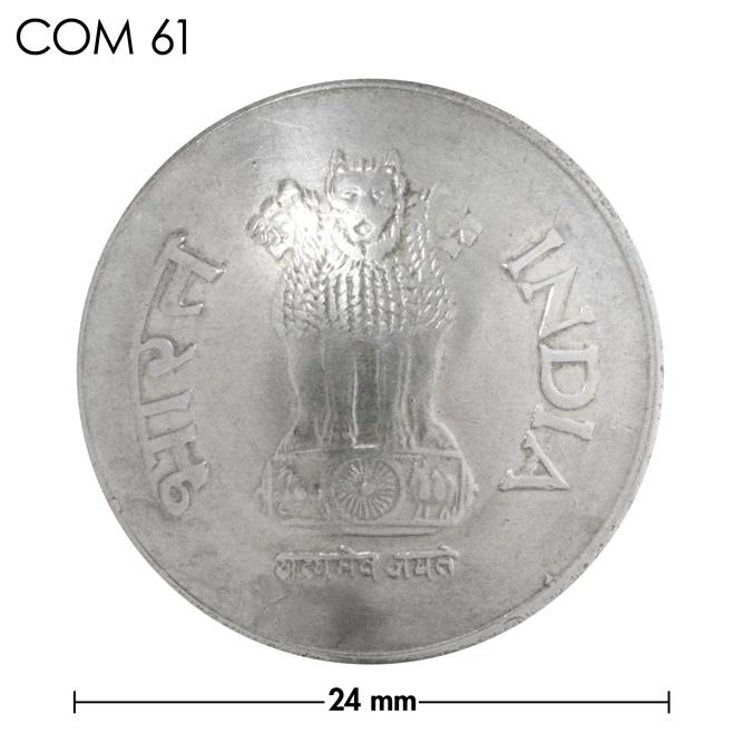 コンチョ/インド/1ルピー/ライオン/銀色/24mm [30%OFF]