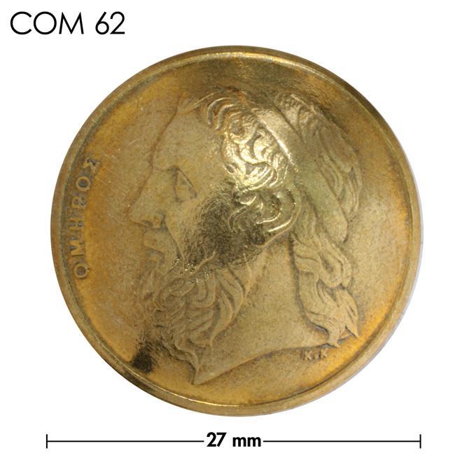 コンチョ/ギリシャ/50ドラクマ/人物/真鍮色/27mm [10%OFF]