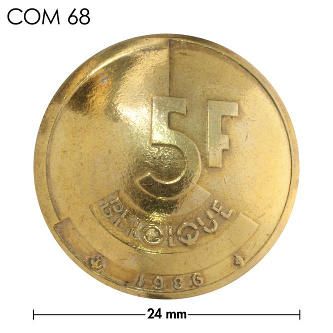 コンチョ/ベルギー/5フラン/文字/真鍮色/24mm [30%OFF]