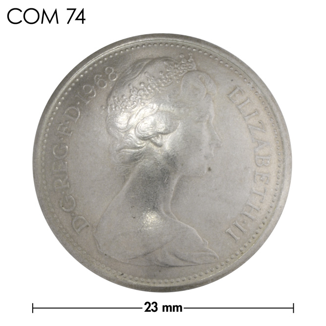 コンチョ/イギリス/旧5ペンス/エリザベス前期/銀色/23mm [ポイント40倍]
