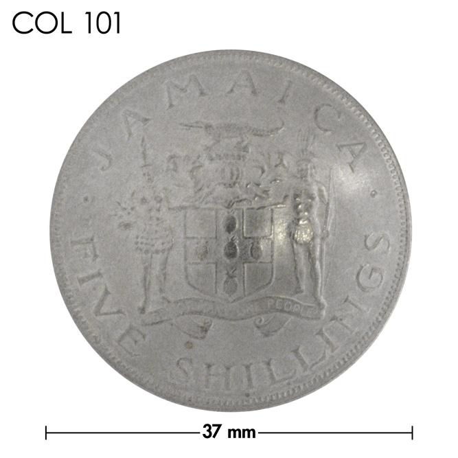 コンチョ/ジャマイカ/5シリング/紋章/銀色/37mm [30%OFF]