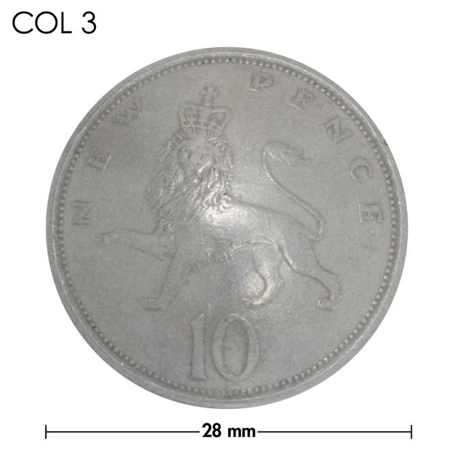 コンチョ/イギリス/10ペンス/ライオン/銀色/28mm [ポイント40倍]