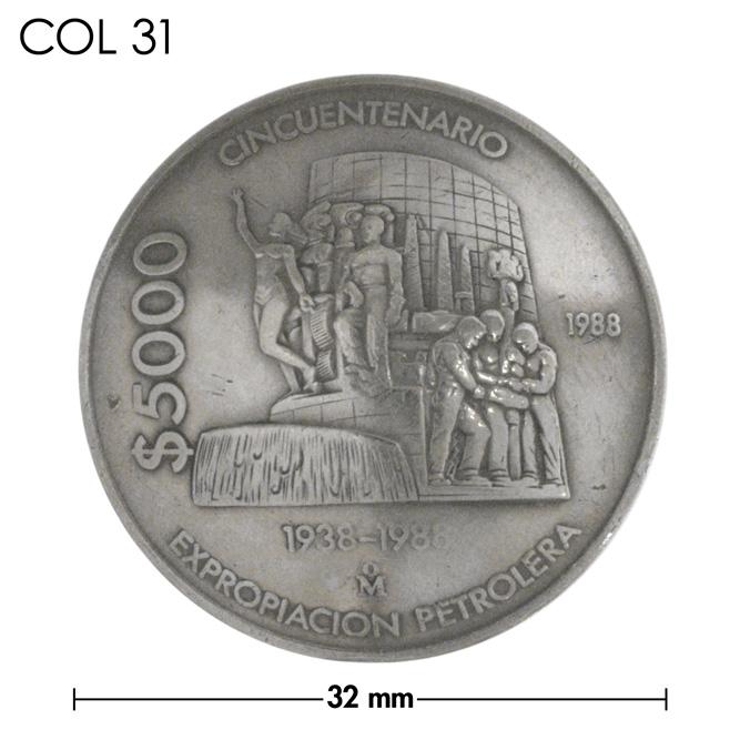 コンチョ/メキシコ/5000ペソ/銀色/32mm [ポイント40倍]