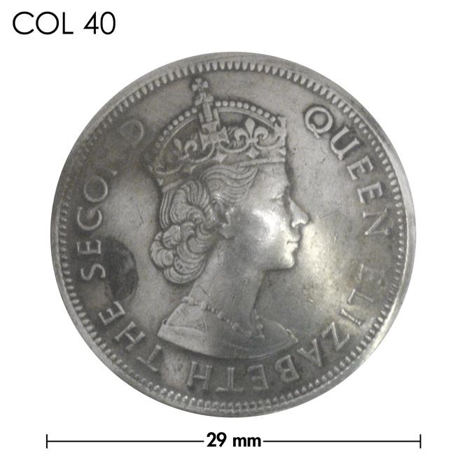 コンチョ/香港/1ドル/エリザベス女王/銀色/29mm [40%OFF]