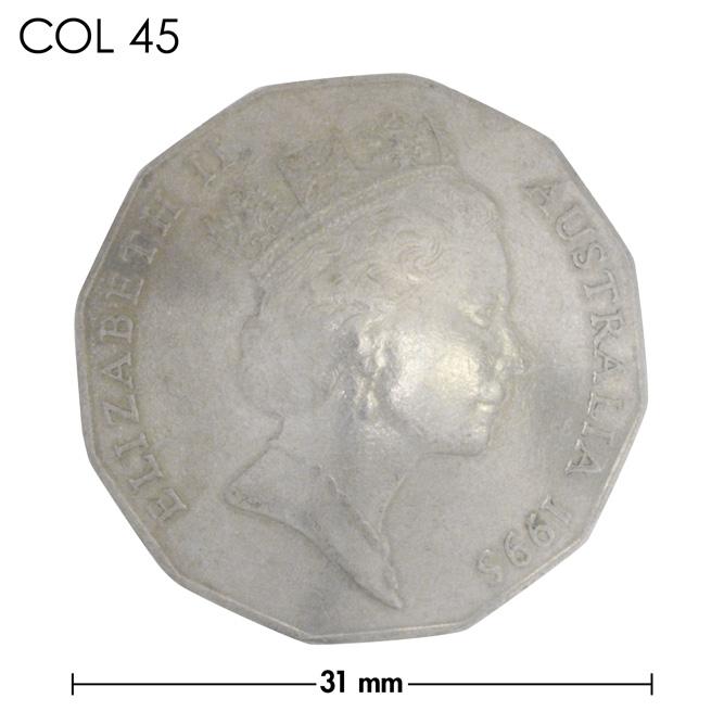 コンチョ/オーストラリア/50セント/エリザベス女王中期/銀色/31mm [10%OFF]