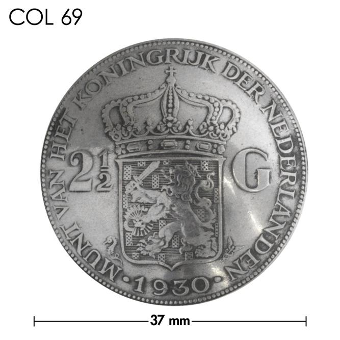 コンチョ/オランダ/2&1/2ギルダー/王冠/銀貨/銀色/37mm [10%OFF]