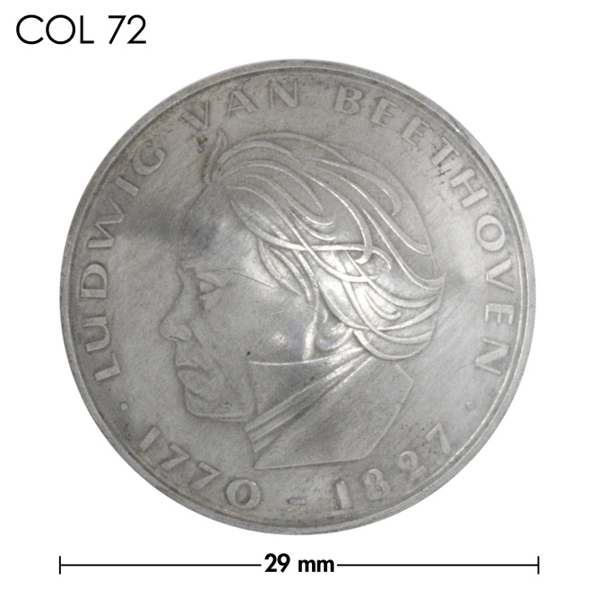 コンチョ/ドイツ/5マルク/ベートーベン1970年記念銀貨/銀色/29mm [40%OFF]