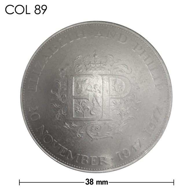 コンチョ/エリザベス2世/結婚25周年記念コイン/銀色/38mm [ポイント40倍]
