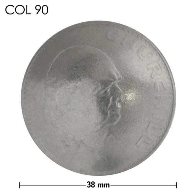 コンチョ/チャーチル追悼記念コイン/銀色/38mm [30%OFF]