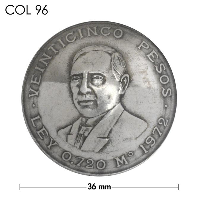 コンチョ/メキシコ/25ペソ銀貨/人物/銀色/36mm [20%OFF]