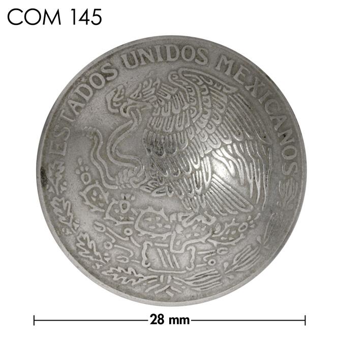 コンチョ/メキシコ/1ペソ/銀色/28mm [ポイント40倍]