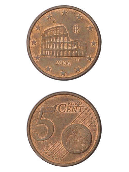 コイン/イタリア/ユーロ/5セント/21mm [ポイント40倍]