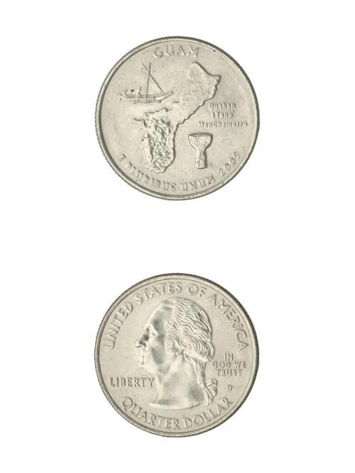 コイン/アメリカ海外領土記念25セント/グアム/24mm [ポイント40倍]