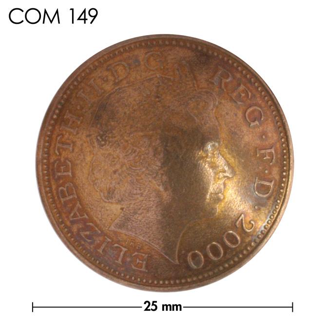 コンチョ/イギリス/2ペンス/エリザベス女王後期/銅色/25mm [ポイント40倍]