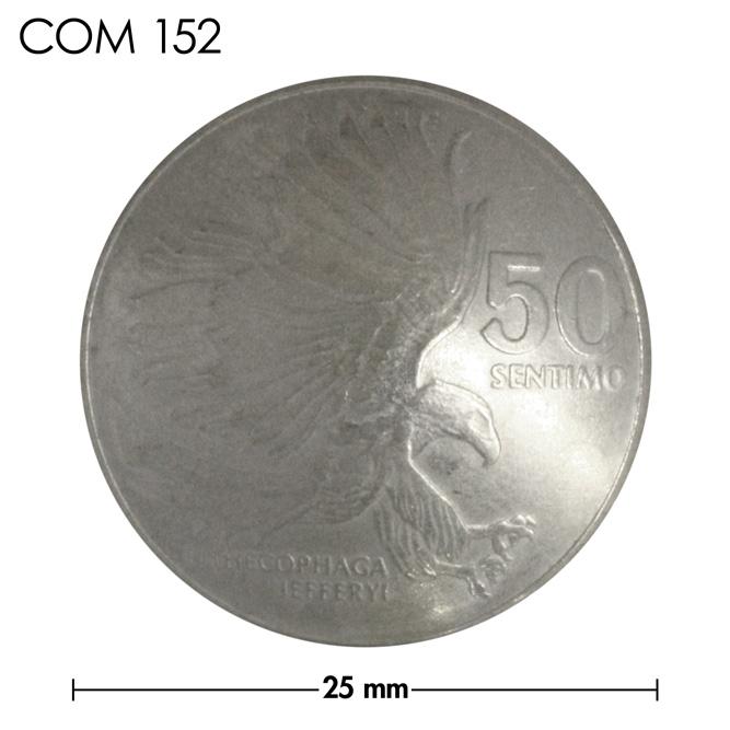 コンチョ/フィリピン/50センチモ/イーグル/銀色/25mm [40%OFF]