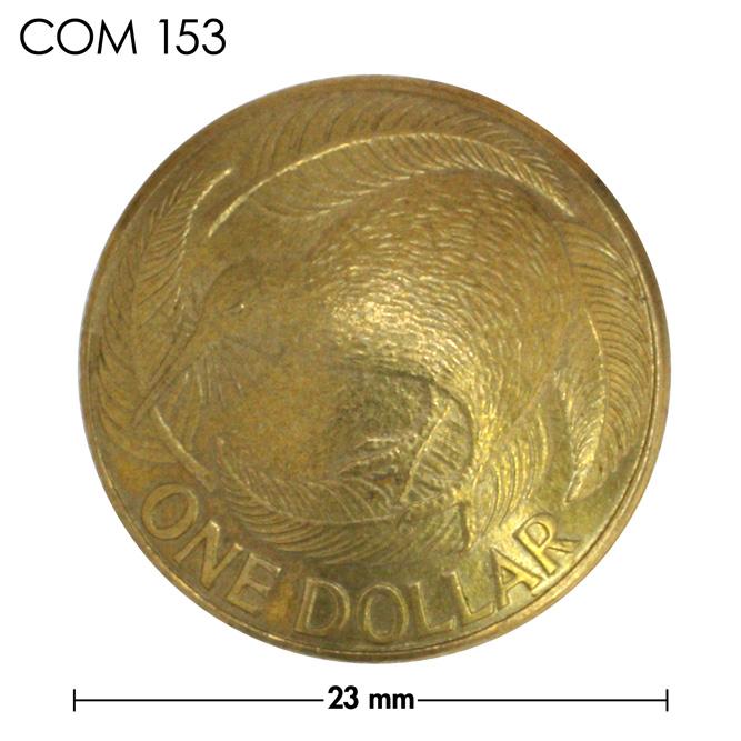 コンチョ/ニュージーランド/1ドル/キーウィ/真鍮色/23mm [ポイント40倍]