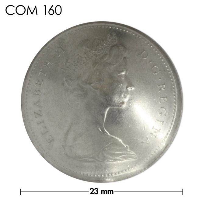 コンチョ/カナダ/25セント/エリザベス女王前期/銀色/23mm [ポイント40倍]
