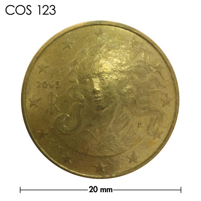 コンチョ/イタリア/10セント/女神/真鍮色/20mm [ポイント40倍]
