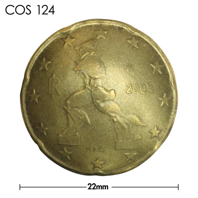 コンチョ/イタリア/20セント/彫刻/真鍮色/22mm [40%OFF]