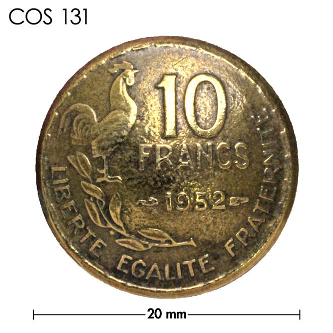コンチョ/フランス/10フラン/にわとり/真鍮色/20mm [ポイント40倍]