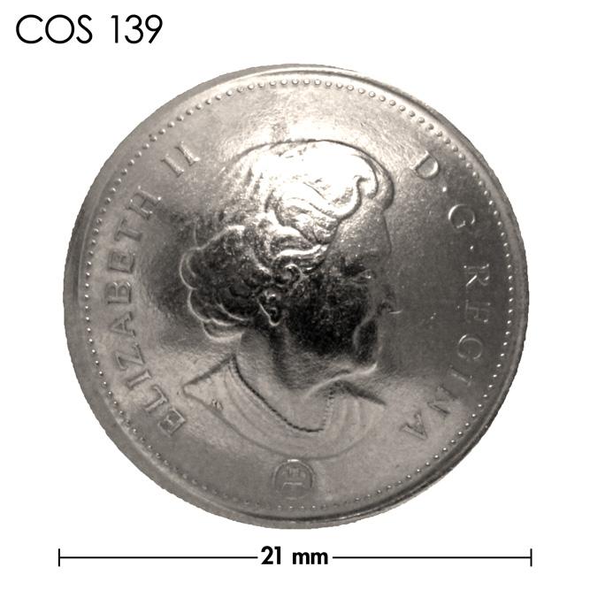 コンチョ/カナダ/5セント/エリザベス女王後期/銀色/21mm [10%OFF]