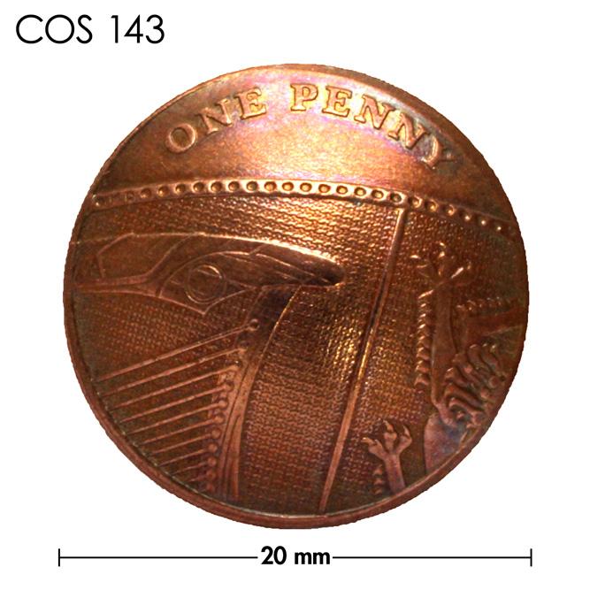 コンチョ/イギリス/1ペニー/盾の一部/銅色/20mm [ポイント40倍]