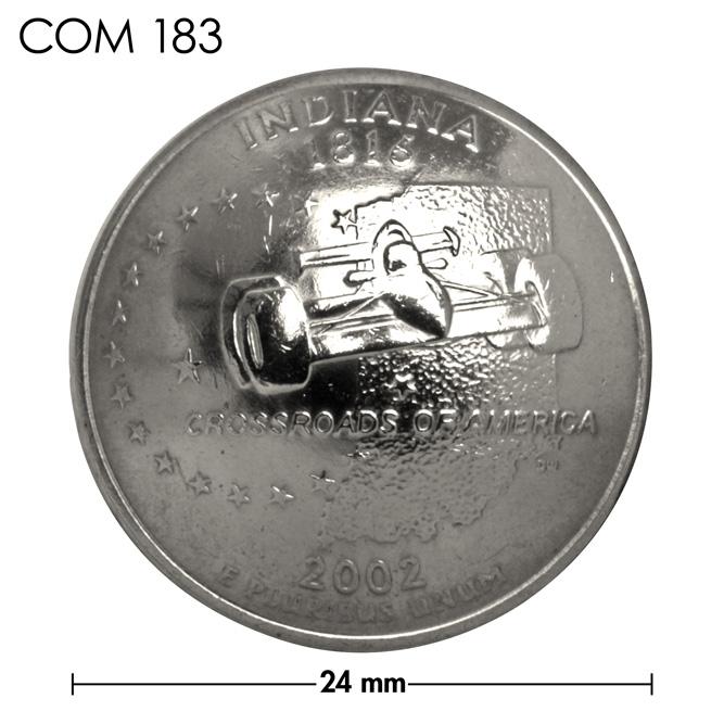 コンチョ/アメリカ/インディアナ州/25セント/インディ・カー/銀色/24mm [ポイント40倍]