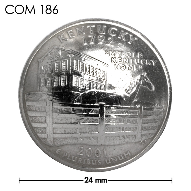 コンチョ/アメリカ/ケンタッキー州/25セント/サラブレッド/銀色/24mm [30%OFF]