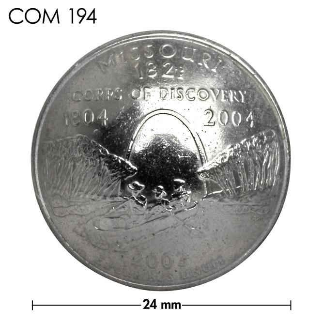 コンチョ/アメリカ/ミズーリ州/25セント/ゲートウェイ・アーチ/銀色/24mm [ポイント40倍]