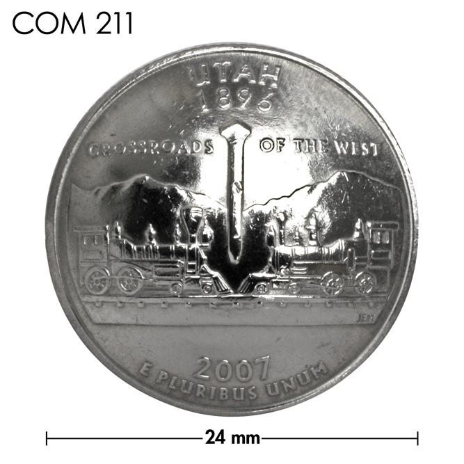 コンチョ/アメリカ/ユタ州/25セント/大陸横断鉄道/銀色/24mm [ポイント40倍]