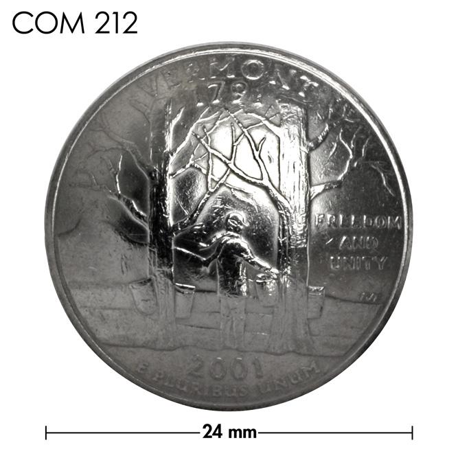 コンチョ/アメリカ/バーモント州/25セント/楓の木/銀色/24mm [30%OFF]