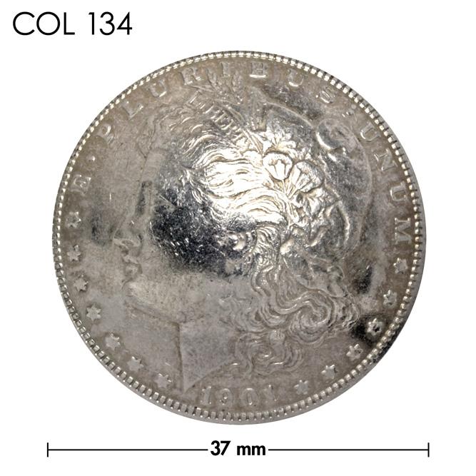 コンチョ/アメリカ/1ドル銀貨/モルガン・ダラー/リバティ/銀色/37mm [40%OFF]