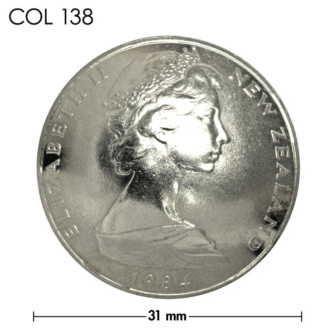 コンチョ/ニュージーランド/50セント/エリザベス女王前期/銀色/31mm [10%OFF]