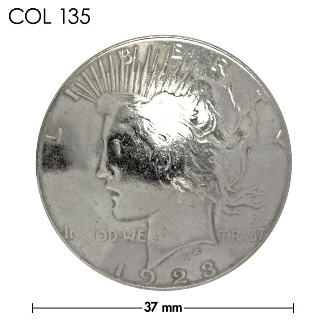 コンチョ/アメリカ/1ドル銀貨/ピース・ダラー/女神/銀色/37mm [10%OFF]