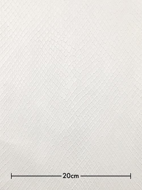 牛革【半裁】型押し(ヘビ・背側)/0.8mm/ホワイト [50%OFF]