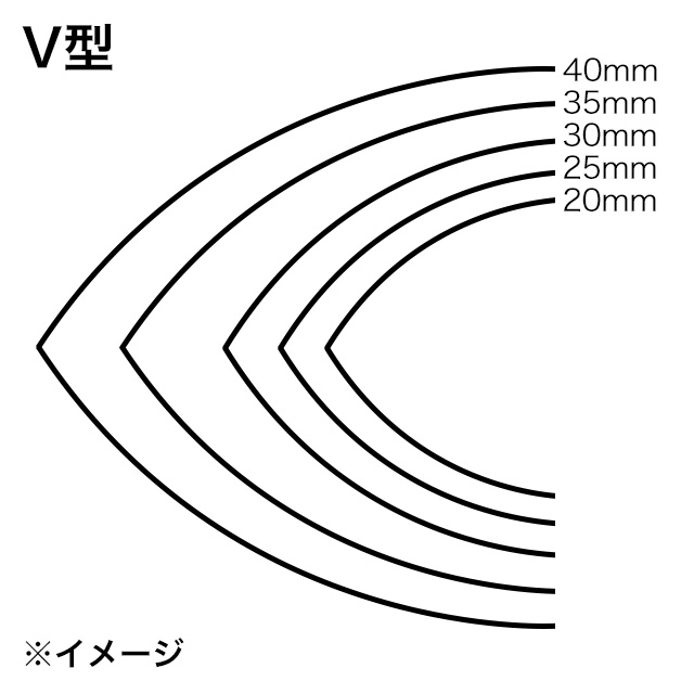 ストラップエンドパンチ/V型/35mm [協進エル]