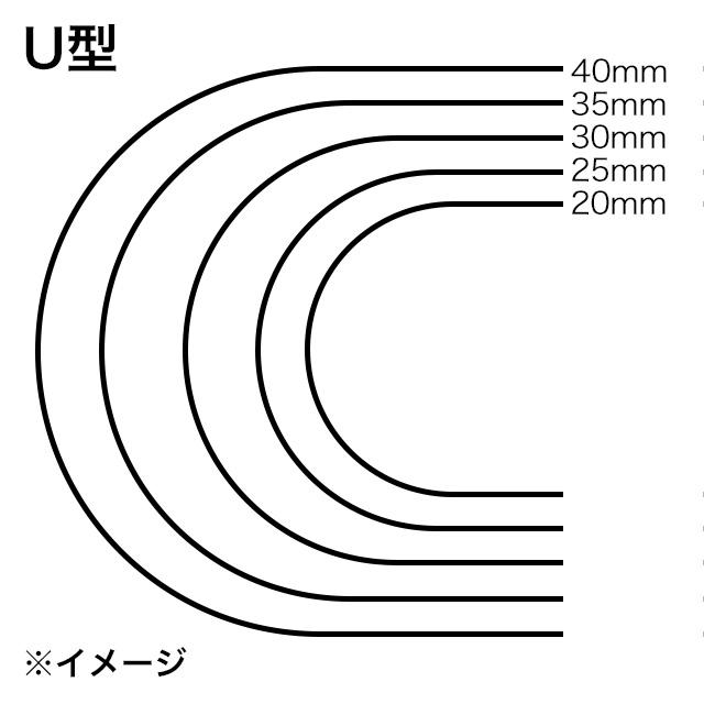 ストラップエンドパンチ/U型/30mm [協進エル]