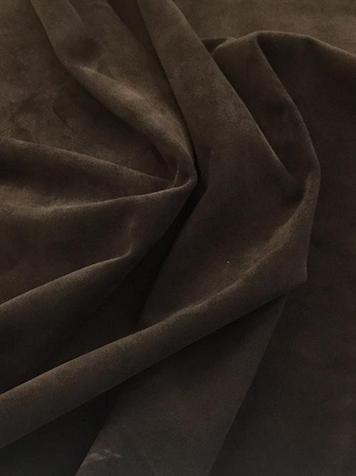 ヤギ革【丸革】両面使い/スエード/0.8mm/チョコ [50%OFF]