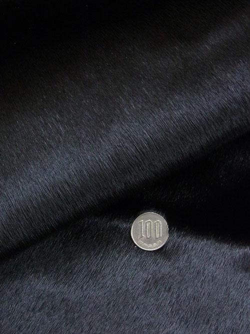 【丸革】アザラシ毛皮/ブラック