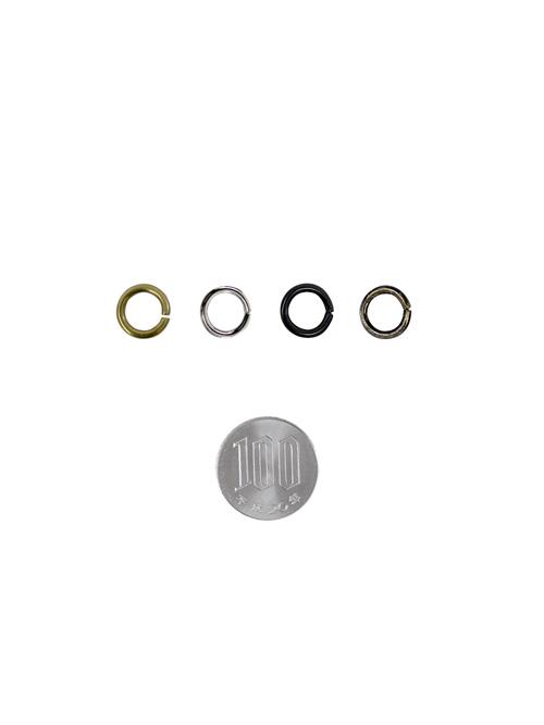 丸カン/ローナシ/内径8mm・線径2mm [br] [ポイント40倍]
