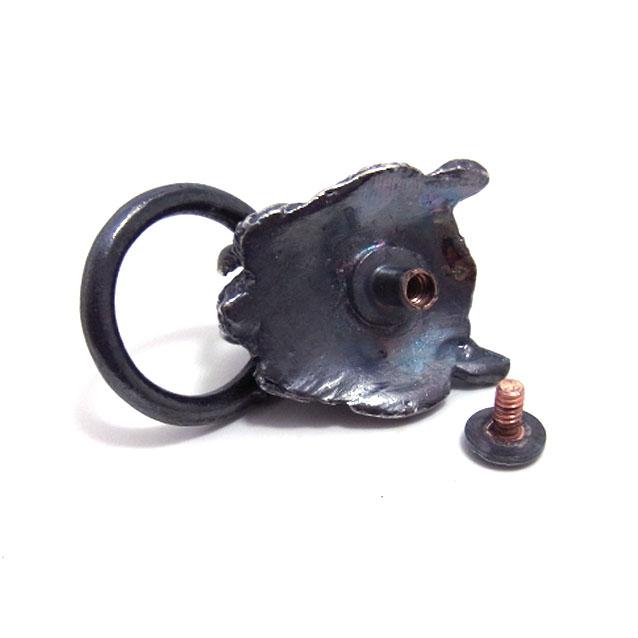 真鍮製ドロップハンドル/サーベルタイガー/燻し銀メッキ [ポイント40倍]