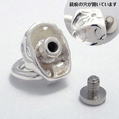 真鍮製ドロップハンドル/フラットスカル/銀メッキ [ポイント40倍]