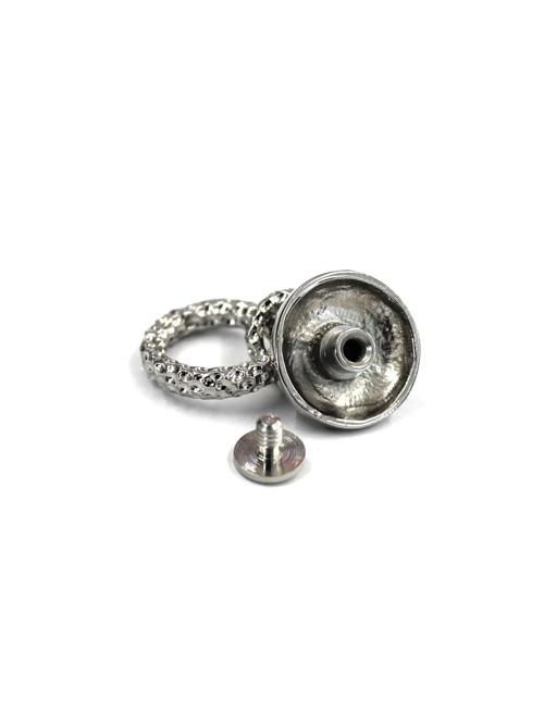 真鍮製ドロップハンドル/エンボス/ニッケルメッキ [ポイント40倍]