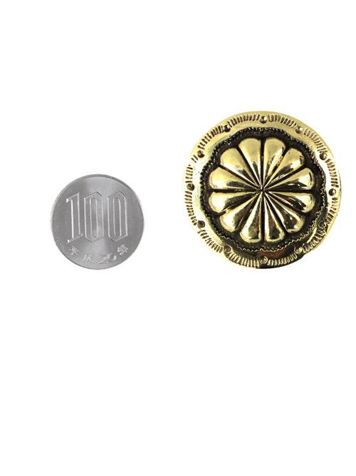真鍮製コンチョ/フラワー/鋳物/36mm [ポイント40倍]